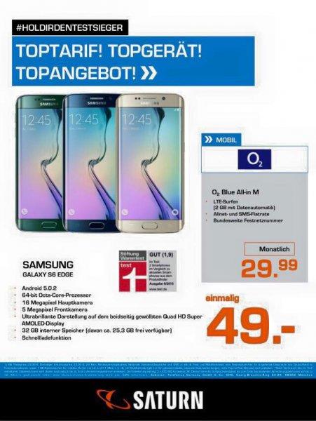 [Lokal Mönchengladbach] Samsung Galaxy S6 edge 32GB mit o2 Blue All-in M 2GB LTE 29,99€ mtl. + 49€ Einmalzahlung -  798,75€