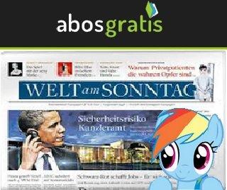"""Kostenloses 6-wöchiges Abo der """"Welt am Sonntag"""" (AbosGratis.de)"""
