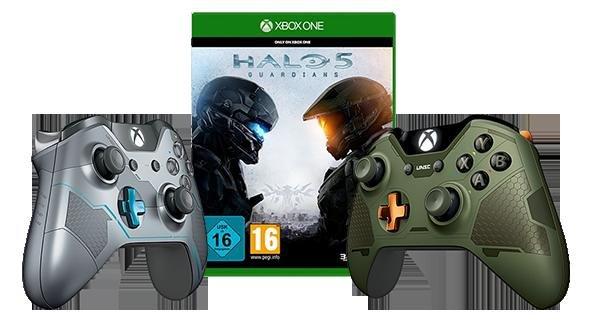 Halo 5 Xbox One + Halo Controller deiner Wahl 64,99€