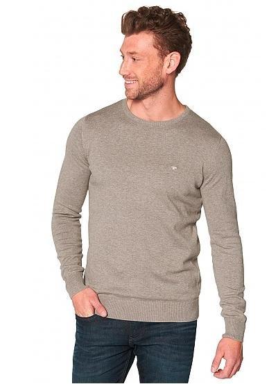 [Tom Tailor] 20% auf Strick für Damen, Herren und Kinder, z.B. Crewneck Baumwollpullover für 24,94€ statt 31,94€