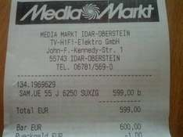 Abgelaufen! [lokal Idar-Oberstein] Samsung FullHD-TV UE55J6250 für 599€