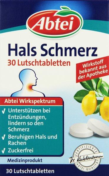 [AmazonDE-SparAbo] Abtei Erkältung Hals Schmerz Lutschtabletten 30 Stück, 1er Pack - ab 1,11 EUR