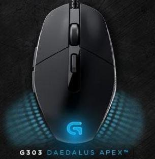 Logitech G303 Daedalus Apex RGB Gaming Maus für 38,33€ bei Conrad.de