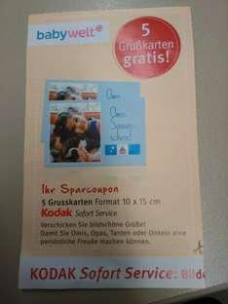 [ROSSMANN] 5 Grußkarten gratis an Sofort Druck Station (Code für App)