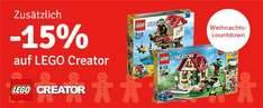 MyToys.de,  15% Rabatt auf Lego Creator