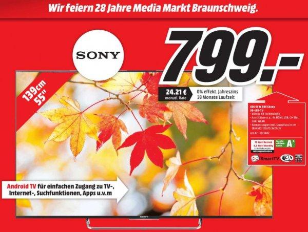 """[Lokal Braunschweig] Media Markt hat Geburtstag - Sony KDL-55W805C 55"""" Android TV"""