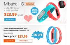 MiBand 1S - inkl. Heart Rate Monitor - Tinydeal - mit Gutscheincode: miband1s