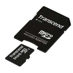 Transcend Mikro SD + Adapter 21,25€