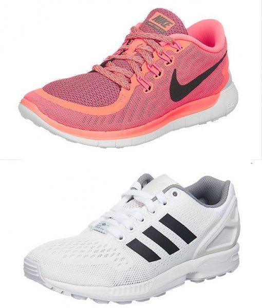 [Damen] Nike Free 5.0 - pink - für 47,90 € inkl. Versand + Adidas Zx Flux [Damen/ Herren] weiss für 40,90 €