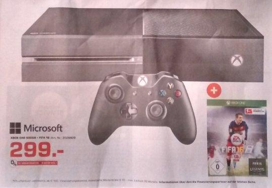 (lokal) Xbox One + FIFA 16 (Key) [@Saturn - 91522 Ansbach]