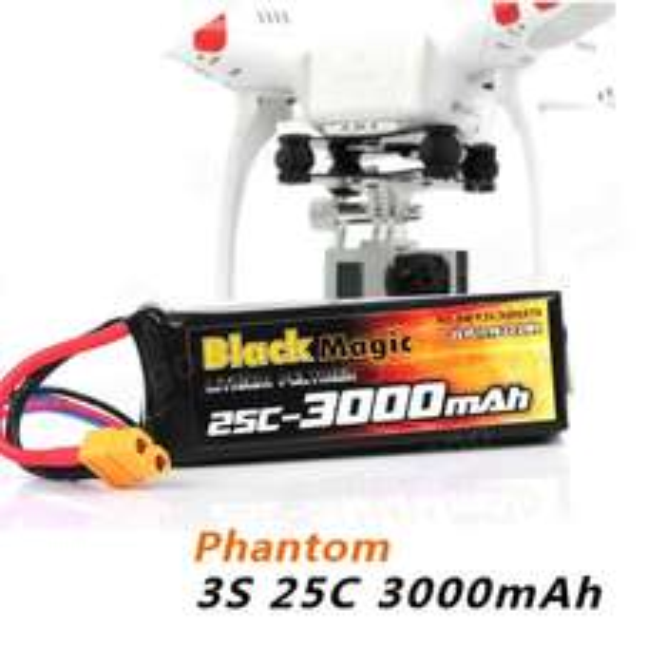 [Aliexpress] LiPo-Akku für  DJI PHANTOM CX-20 BlackMagic 3000mAh 3S 25C