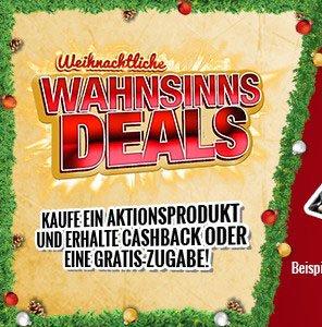 ASUS Xmas Promo - 15€ bis 45€ Cashback oder Gratis-Zugaben auf verschiedenste Produkte