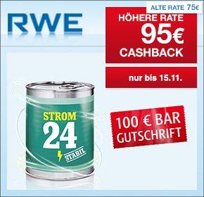 [QIPU] RWE: 95€ Cashback + 100€ Bar Gutschrift für deinen Strom oder Gas Wechsel