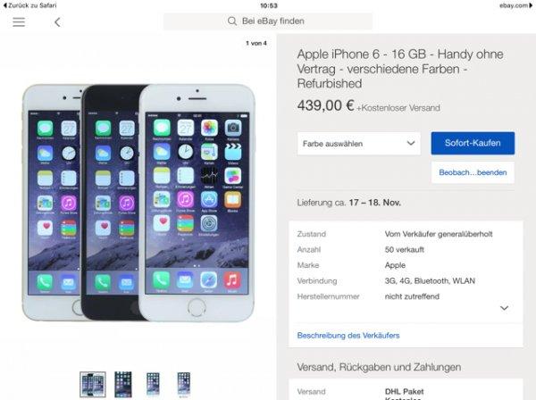 iPhone 6 refurbished, 16GB