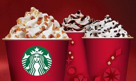 [Starbucks] 2 Weihnachtsgetränke zum Preis von 1