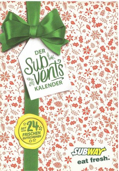 [Adventskalender] Subway deutschlandweit - ab 1.12 - Jeden Tag ein neuer Coupon