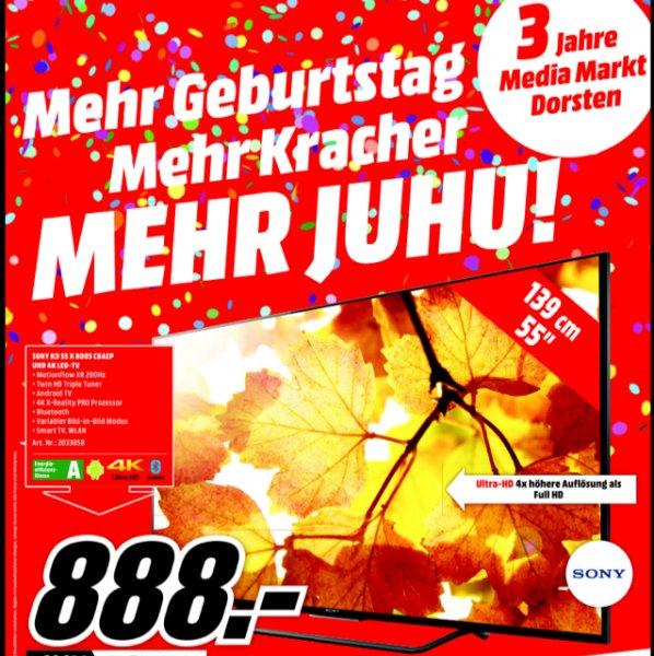 "Sony 55 X 8005 C im Media Markt Dorsten ""lokal"""