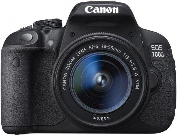 Canon EOS 700 D (EF-S 18-55mm IS STM) Digitale Spiegelreflexkamera schwarz  Lokal