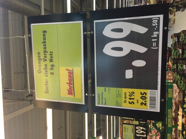 Ab Heute: 2 Kg Orangen für 0,99€ bei Kaufland !!  [offline]