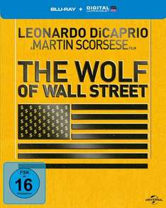 The Wolf of Wall Street (Steelbook BluRay) für 11,96€ inkl. VSK bei media-dealer.de