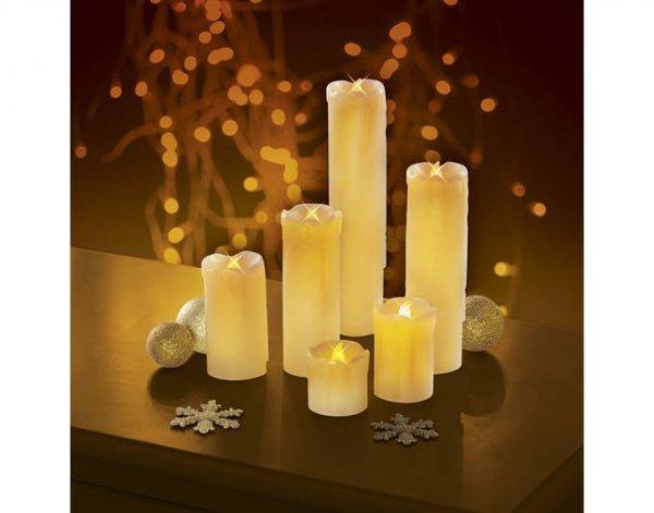 [maxx-world] candlemaxx LED Echtwachskerzen 6er Set Kerzen inklusive Batterien