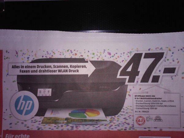 [Lokal MM Wiesbaden] HP Officejet 3834 e-All-in-One Drucker für 47€