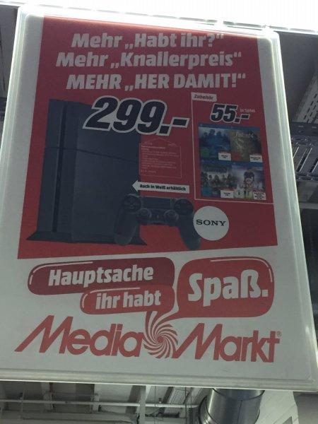 Playstation 4 Weiß oder Schwarz 299,-€ Media Markt Osnabrück-Belm