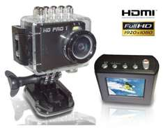 [Satchef] HD PRO 1 Action Cam Full HD, 5 Megapixel, 1,5 Zoll LCD Display,  4-fach dig. Zoom, HDMI, USB, AV-Out, Schwarz