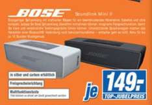 [expert lokal Hannover] BOSE Soundlink Mini 2