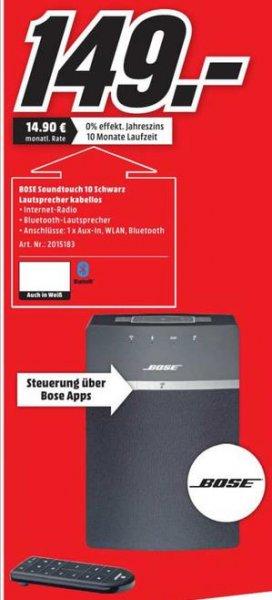 [lokal] Bose Soundtouch 10 Bluetooth Lautsprecher in schwarz für 149,- Euro @MediaMarkt Porta-Westfalica