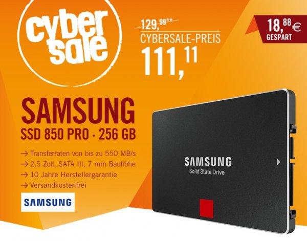 [Cyberport.de] Samsung SSD 850 PRO Series 256GB / 2.5Zoll / 10 Jahre Garantie für 111€