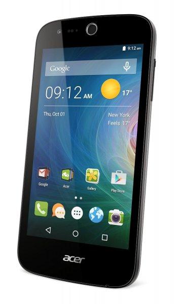 Acer Liquid Z330 [Dual-SIM, LTE, 4.5 Zoll IPS-Display, 1.1 GHz QuadCore-CPU, 5MP Kamera, Android 5.1 ] schwarz inkl.Vsk für 91 € > [amazon.it]