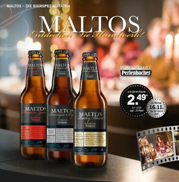 """[LIDL] 3x330 ml """"Craft Beer"""" MALTOS 2,49€, 3 Bierstile zur Auswahl, ab 16.11.2015"""