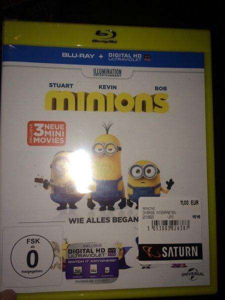 [Lokal Köln?] Minions der Film Blu-ray für 11€ im Saturn Hohe Strasse