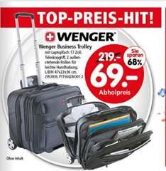 "[SEGMÜLLER nur offline] Wenger Businesstrolley mit 17"" Notebookfach für 69€ (Idealo 139,99€)"