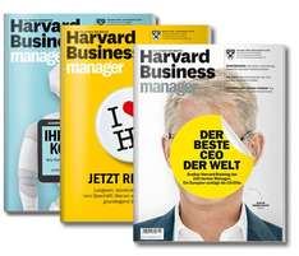 "1 Ausgabe Harvard Business Manager gratis + HBM-Edition ""Selbstmanagement"" - Kündigung notwendig!"