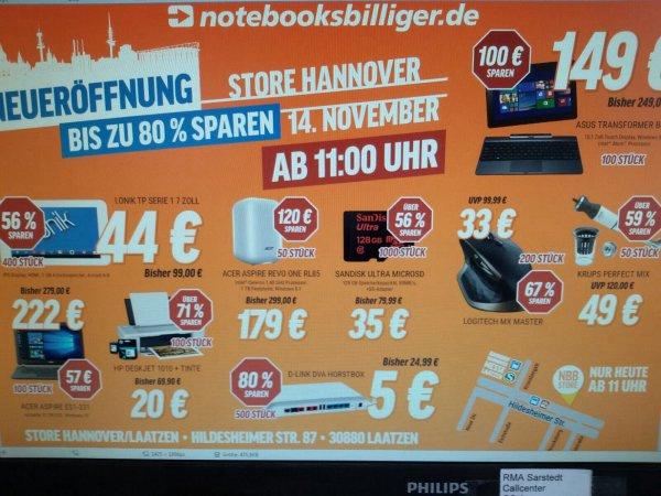 [Hannover] NBB Eröffnung mit einigen guten Angeboten - z.B. Logitech MX Master für 33€, Honor 6 Plus für 249€, etc. - heute 14.11.