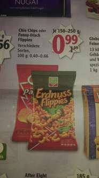 Globus (regional) Chio Chips 0,99 Euro