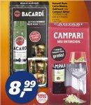 real,- ab 16.11.: Bacardi Rum (auch Oakheart) plus 2 Gläser oder Campari Bitter plus 1 Glas für je 8,99€; Captain Morgan (ohne Glas) ebenfalls 8,99€.