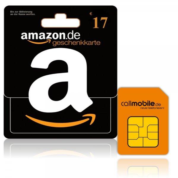 (Wiedermal da) Callmobile Karte mit 17€ Amazon Gutschein für 2,95€