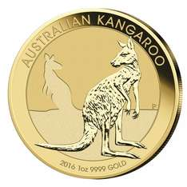 Goldmünze Känguru zum Spot 1oz Gold 2016 Australien Perth Mint 31,1 Gramm