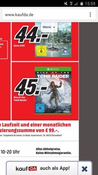 Rise Of The Tomb Raider (Lokal Hildesheim) 45 Euro