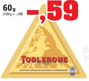 [THOMAS PHILIPPS] Toblerone Dreieckstafel 60g für 0,59€