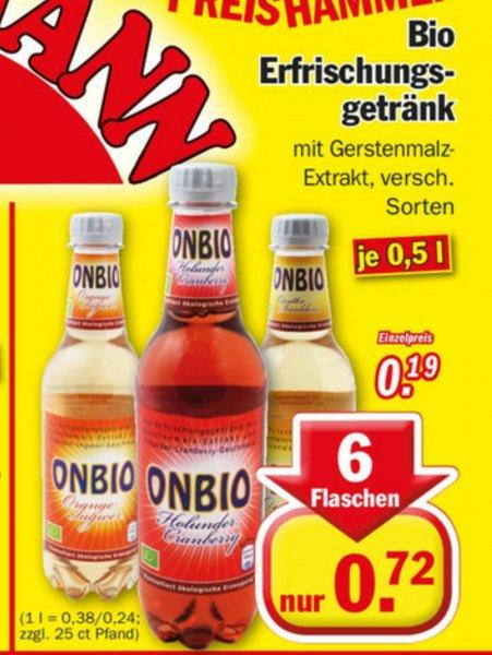 [Zimmermann] ONBIO Bio Erfrischungs Getränk 6 Flaschen a 0,5L 0.72€ (12 Cent Pro Flasche) zzgl Pfand
