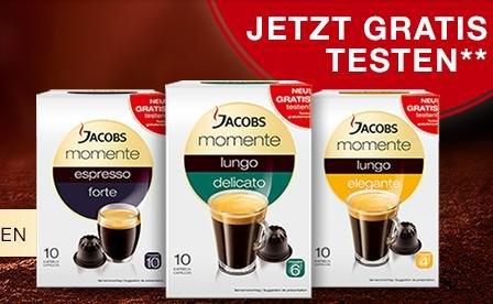 Jacobs Momente GRATIS testen