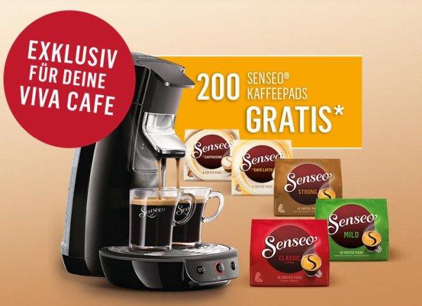 200 Pads Gratis beim Kauf einer Senseo Viva Café oder New Original