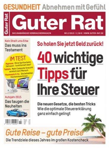 Guter Rat - Halbjahresabo (6 Ausgaben) für effektiv 5,60€ durch 10,00€ Bargeldprämie (Verrechnungsscheck)