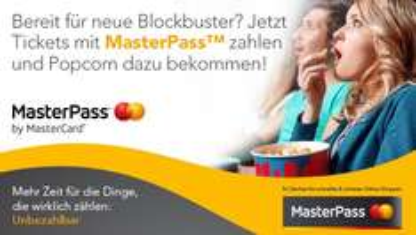 Masterpass [UCI Kinowelt] Gratis Tüte Popcorn Normal