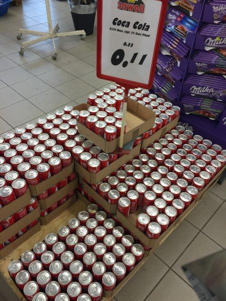 Jawoll (Zwickau), Coca Cola Dose 0,25 l (ohne Pfand), evtl.Lokal