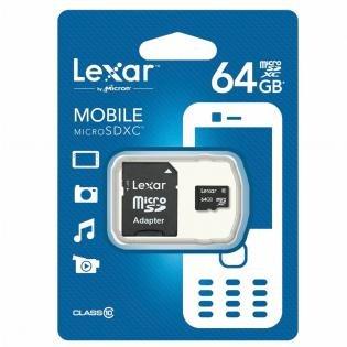 [Redcoon] Ab 6.00 Uhr - Lexar 64GB Class 10 MicroSDXC Memory Card Speicherkarte mit Adapater(bis zu 45MB/s) für 17,-€ Versandkostenfrei